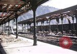 Image of damaged locomotives Sicily Italy, 1943, second 47 stock footage video 65675061152