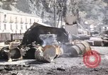 Image of damaged locomotives Sicily Italy, 1943, second 51 stock footage video 65675061152