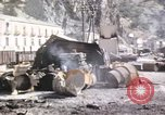 Image of damaged locomotives Sicily Italy, 1943, second 52 stock footage video 65675061152