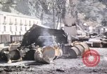 Image of damaged locomotives Sicily Italy, 1943, second 55 stock footage video 65675061152