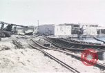 Image of wrecked locomotive Sicily Italy, 1943, second 8 stock footage video 65675061157