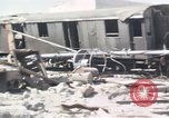Image of wrecked locomotive Sicily Italy, 1943, second 10 stock footage video 65675061157