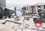 Image of wrecked locomotive Sicily Italy, 1943, second 13 stock footage video 65675061157