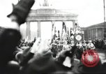 Image of Berliners celebrate appointment of Hitler as Chancellor Berlin Germany, 1933, second 22 stock footage video 65675061176