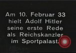 Image of Adolf Hitler's first speech as Reich Chancellor Berlin Germany, 1933, second 1 stock footage video 65675061178