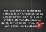 Image of National Socialist Factory Cell Organization gathering in Berlin Berlin Germany, 1933, second 9 stock footage video 65675061179