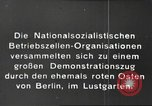 Image of National Socialist Factory Cell Organization gathering in Berlin Berlin Germany, 1933, second 12 stock footage video 65675061179