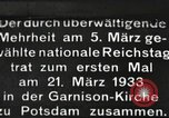 Image of New Reichstag holds first meeting in Garrison Church, Potsdam Potsdam Germany, 1933, second 1 stock footage video 65675061181