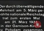 Image of New Reichstag holds first meeting in Garrison Church, Potsdam Potsdam Germany, 1933, second 3 stock footage video 65675061181