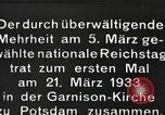 Image of New Reichstag holds first meeting in Garrison Church, Potsdam Potsdam Germany, 1933, second 4 stock footage video 65675061181