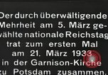 Image of New Reichstag holds first meeting in Garrison Church, Potsdam Potsdam Germany, 1933, second 5 stock footage video 65675061181