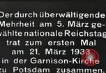 Image of New Reichstag holds first meeting in Garrison Church, Potsdam Potsdam Germany, 1933, second 6 stock footage video 65675061181