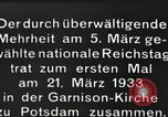 Image of New Reichstag holds first meeting in Garrison Church, Potsdam Potsdam Germany, 1933, second 7 stock footage video 65675061181