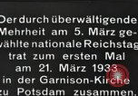 Image of New Reichstag holds first meeting in Garrison Church, Potsdam Potsdam Germany, 1933, second 8 stock footage video 65675061181