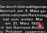 Image of New Reichstag holds first meeting in Garrison Church, Potsdam Potsdam Germany, 1933, second 9 stock footage video 65675061181