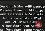 Image of New Reichstag holds first meeting in Garrison Church, Potsdam Potsdam Germany, 1933, second 10 stock footage video 65675061181