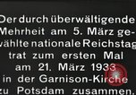Image of New Reichstag holds first meeting in Garrison Church, Potsdam Potsdam Germany, 1933, second 13 stock footage video 65675061181