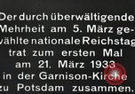 Image of New Reichstag holds first meeting in Garrison Church, Potsdam Potsdam Germany, 1933, second 14 stock footage video 65675061181