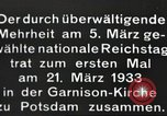Image of New Reichstag holds first meeting in Garrison Church, Potsdam Potsdam Germany, 1933, second 15 stock footage video 65675061181