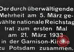 Image of New Reichstag holds first meeting in Garrison Church, Potsdam Potsdam Germany, 1933, second 16 stock footage video 65675061181