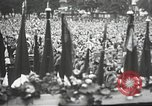 Image of Adolf Hitler speaks to crowd of workers at Gera, Thuringia, Germany Gera Germany, 1932, second 52 stock footage video 65675061185