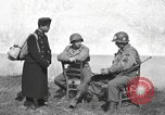 Image of US soldiers interview Hungarian military school boys Freyung Germany, 1945, second 33 stock footage video 65675061211