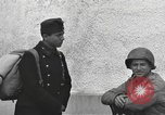 Image of US soldiers interview Hungarian military school boys Freyung Germany, 1945, second 40 stock footage video 65675061211