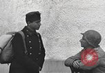 Image of US soldiers interview Hungarian military school boys Freyung Germany, 1945, second 41 stock footage video 65675061211