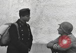 Image of US soldiers interview Hungarian military school boys Freyung Germany, 1945, second 42 stock footage video 65675061211