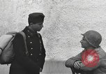 Image of US soldiers interview Hungarian military school boys Freyung Germany, 1945, second 47 stock footage video 65675061211