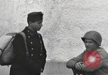 Image of US soldiers interview Hungarian military school boys Freyung Germany, 1945, second 48 stock footage video 65675061211