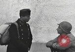 Image of US soldiers interview Hungarian military school boys Freyung Germany, 1945, second 60 stock footage video 65675061211