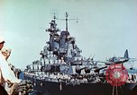 Image of U.S. warships in a World War II Task Force. Pacific Theater, 1944, second 30 stock footage video 65675061220