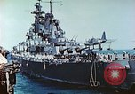 Image of U.S. warships in a World War II Task Force. Pacific Theater, 1944, second 32 stock footage video 65675061220