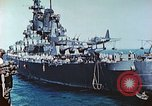 Image of U.S. warships in a World War II Task Force. Pacific Theater, 1944, second 33 stock footage video 65675061220