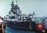 Image of U.S. warships in a World War II Task Force. Pacific Theater, 1944, second 34 stock footage video 65675061220