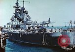 Image of U.S. warships in a World War II Task Force. Pacific Theater, 1944, second 35 stock footage video 65675061220