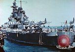 Image of U.S. warships in a World War II Task Force. Pacific Theater, 1944, second 36 stock footage video 65675061220