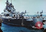 Image of U.S. warships in a World War II Task Force. Pacific Theater, 1944, second 37 stock footage video 65675061220