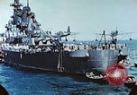 Image of U.S. warships in a World War II Task Force. Pacific Theater, 1944, second 38 stock footage video 65675061220