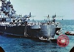 Image of U.S. warships in a World War II Task Force. Pacific Theater, 1944, second 39 stock footage video 65675061220