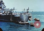 Image of U.S. warships in a World War II Task Force. Pacific Theater, 1944, second 40 stock footage video 65675061220