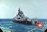 Image of U.S. warships in a World War II Task Force. Pacific Theater, 1944, second 41 stock footage video 65675061220