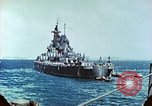 Image of U.S. warships in a World War II Task Force. Pacific Theater, 1944, second 42 stock footage video 65675061220