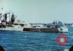 Image of U.S. warships in a World War II Task Force. Pacific Theater, 1944, second 51 stock footage video 65675061220