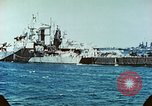 Image of U.S. warships in a World War II Task Force. Pacific Theater, 1944, second 52 stock footage video 65675061220