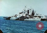 Image of U.S. warships in a World War II Task Force. Pacific Theater, 1944, second 54 stock footage video 65675061220