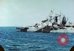 Image of U.S. warships in a World War II Task Force. Pacific Theater, 1944, second 55 stock footage video 65675061220