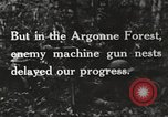 Image of United States troops advance Argonne forest France, 1918, second 19 stock footage video 65675061250