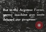 Image of United States troops advance Argonne forest France, 1918, second 23 stock footage video 65675061250